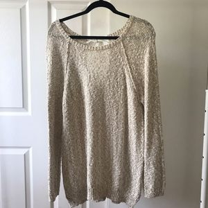 oversized cream sweater size s